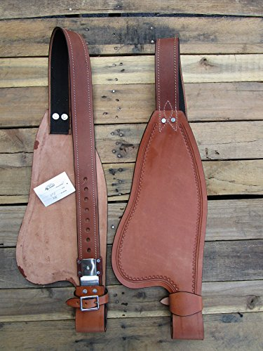 REPLACEMENT HORSE WESTERN SADDLE SMOOTH LEATHER FENDER STIRRUP HOBBLE STRAP TRAIL PLEASURE TACK - Billy Cook Show Saddle