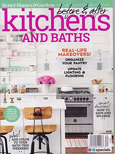 Amazon.com : Better Homes & Gardens Kitchens AND BATHS MAGAZINE 2018 ...