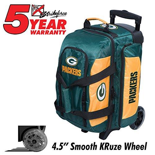 2e403f54a283 KR Strikeforce Bowling Bags Green Bay Packers 2 Ball Roller Bowling Bag