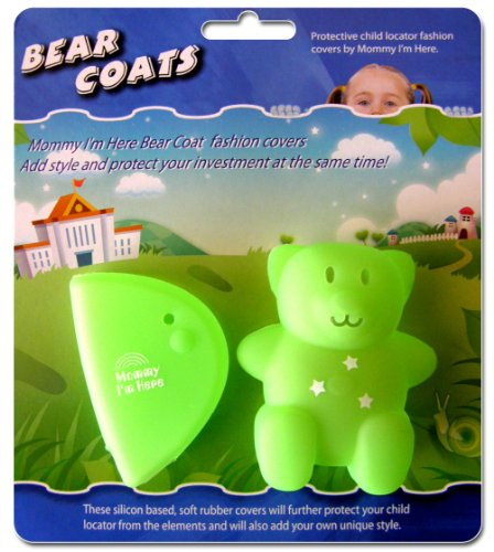 - Mommy I'm Here  CL-606FG Bear Coats Protective Fashion Covers Add Style and Protect Your Child Locator, Fluorescent Green