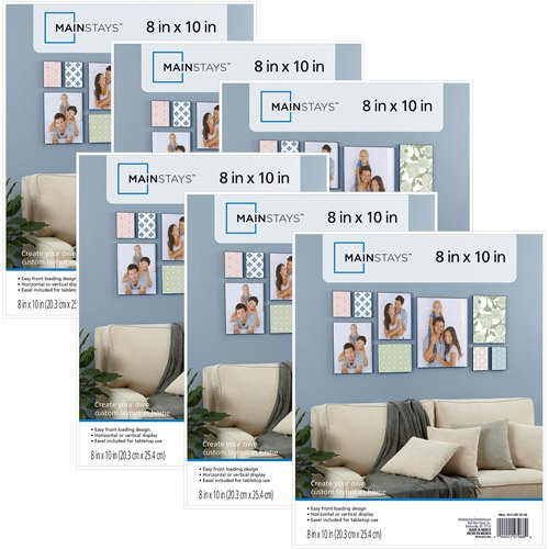 Mainstays 8x10 Format Picture Family Frame, Set of 6- White