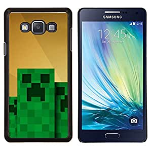 """Be-Star Único Patrón Plástico Duro Fundas Cover Cubre Hard Case Cover Para Samsung Galaxy A7 / SM-A700 ( Monstruo Verde Computer Game Character"""" )"""