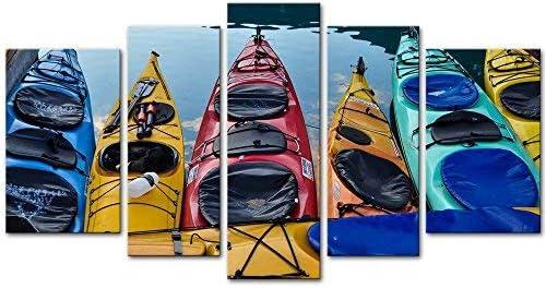 Kayak Canoe Poster Print Canoeing Gift Lake House Decor Canoe Art Canoe Wall Art
