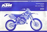 320479 2000 KTM 125 200 SX MXC EXC Chassis Spare Parts Manual