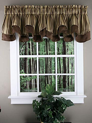 Valance Stylemaster - Windsor Scalloped Layered Valance - BROWN color
