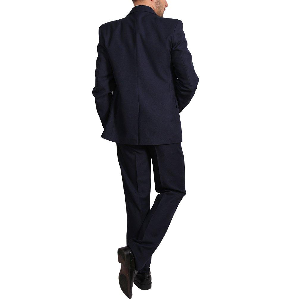 Herren Anzug 3Teiler Slim Fit Sakko Hose Weste Hochzeit Smoking Slimline