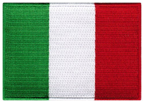 Italy Flag Embroidered Patch Italian Iron-On National Emblem