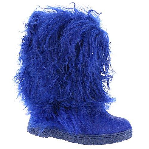 BEARPAW Women's Boetis 11'' Snow Boots, Blue Cow Hair, Lamb Fur, Sheepskin Fur, 11 M by BEARPAW