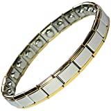 MPS Python Narrow Expanding Magnetic Bracelet with Gold Edges (No Clasp)