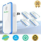 Rodea Ultrasonic Pest Repeller (4 Pack) Pest Reject Electronic Plug in-Pest Control- Best Repellent to get rid of Rodents, Insects & Bugs: Mice Rat Roach Ant Fruit Fly Fleas Mosquito Spider & Bedbug