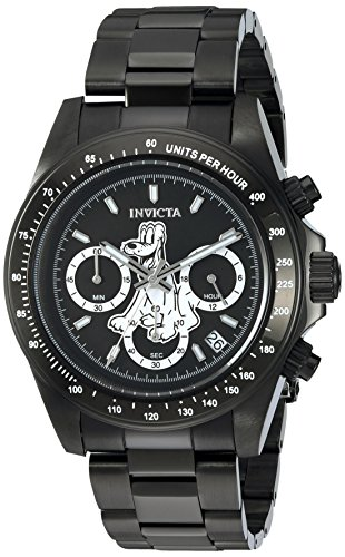 - Invicta Men's Disney Limited Edition Quartz Watch with Stainless-Steel Strap, Black, 9 (Model: 24399)