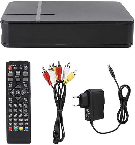 ASHATA Caja de TV Digital Mini HD 1080P con Control Remoto, Receptor terrestre DVB-T2 K2 WiFi, cumplimiento con DVB-T/T2 y H.264, MPEG-4, Compatible con Interfaz 3D y Temporizador de Apagado(Negro): Amazon.es: Electrónica