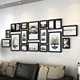 ZYANZ 18 Photo Frame Wall Gallery Kit Includes: Frames,Hanging Wall Template,Art Painting Core ( Color : Black )