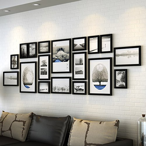 ZYANZ 18 Photo Frame Wall Gallery Kit Includes: Frames,Hanging Wall ...