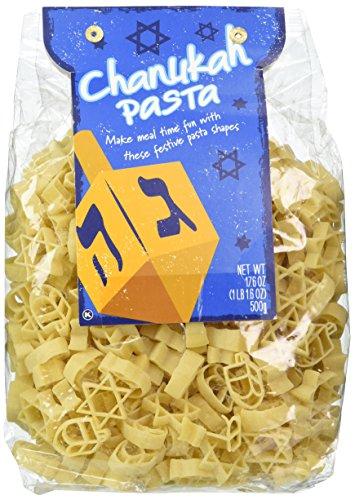 (Chanuka Shaped Pasta 1lb Bag Menorah Stars Dreidel Product of Italy)