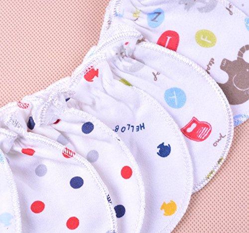 yeah67886/Creative reci/én nacido beb/é anti-scratch guantes de algod/ón 0/ 5/par /6/meses
