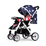 TIANG-Fold Umbrella Baby Stand Strollers With Convenient Roomy Storage(captain America)