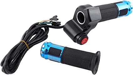 Universal Electric Scooter Bike Thumb Throttle Twist Grip 3 Wire 24V 36V 48V 60V