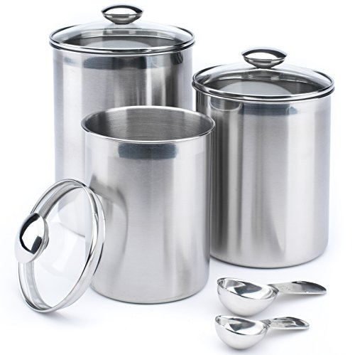 kitchen canister sets stainless steel steel xl canister set stainless steel set of 3 canisters 24618