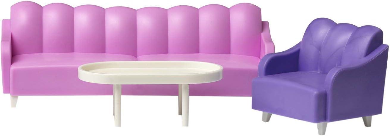 Lundby 60-3054-00 Dolls House Basic Living Room Furniture Set