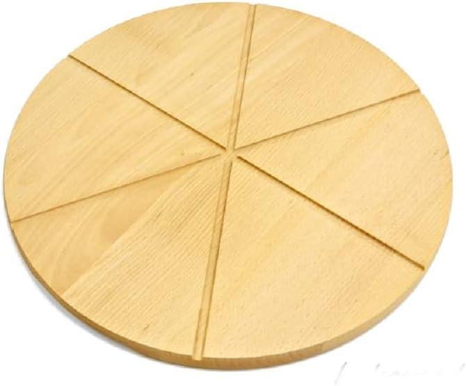 30 cm Wooden World Tagliere Rotondo Circolare per Pizza in Legno massello