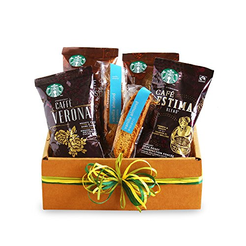 California Delicious Starbucks Sampler Coffee Gift Basket by California Delicious