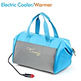 Appliances : Causalyg 20-Can 12V DC Soft Portable Insulated Electric Cooler/Warmer Tote Bag, 18 L Capacity with Thermoelectric System For Camping, Picnic, Road Trip, Car Travel