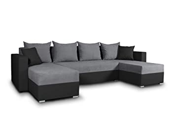 Wohnlandschaft Mit Schlaffunktion Beno U Form Couch Ecksofa Mit Bettkasten Couchgranitur Mit Bettfunktion Polsterecke Big Sofa Polstergarnitur