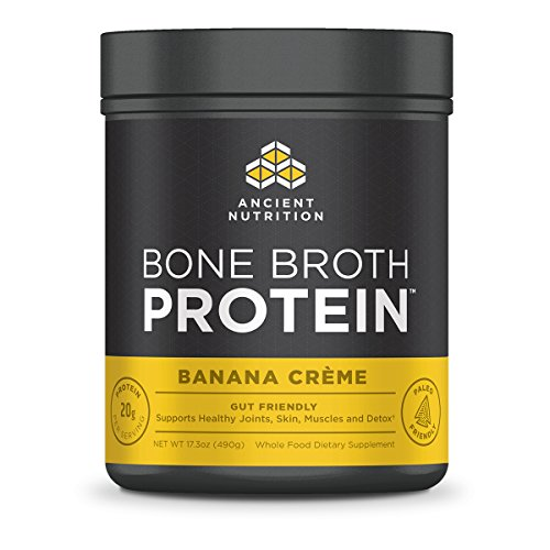Ancient Nutrition Bone Broth Protein Powder Banana Creme Flavor 20 Servings Size