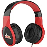 Kids' Headphones by KidRox | RS4 Children's Earphones | Volume Limited & Adjustable | Safe & Fun (Red/Black)