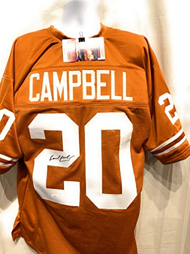 Earl Campbell Texas Longhorns Signed Autograph Custom Jersey JSA Witnessed Certified