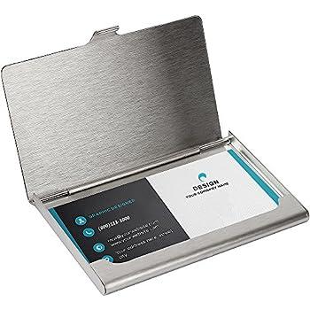 Amazon sunplustrade professional business card holder case sunplustrade professional business card holder case stainless steel slim design for men and women colourmoves