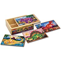 Melissa & Doug Dinosaurs 4-in-1 Wooden Jigsaw Puzzles in...