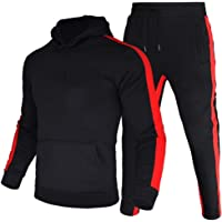 LeerKing Heren Trainingspak Joggers Fleece Hoodie Sportwear Sweatshirt Broek Set voor Man, Jongens, 5 Kleuren, Maat M…