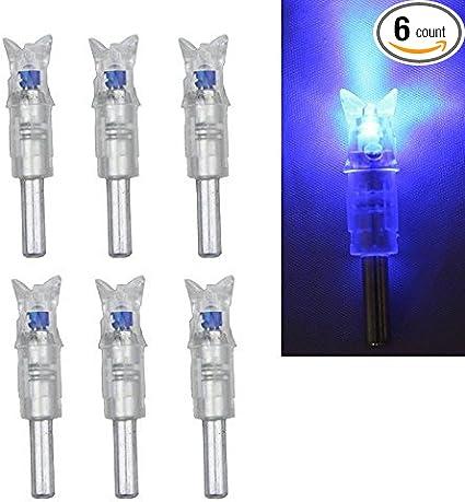"""3×Blue Automatically Lighted LED Arrow Nocks Aluminum For Crossbow ID .297-.302/"""""""