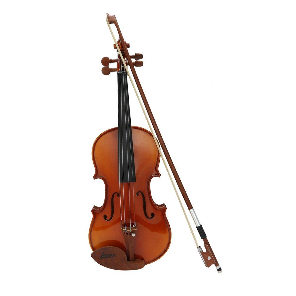 Lujex Quarter 1/4 Size Solid Wood Violin for Beginners Kids Children (1/4)