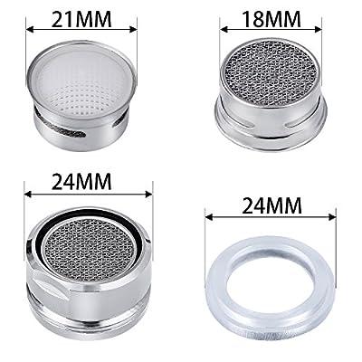 6 PCS Bathroom Faucet Aerator Parts, Male Kitchen Faucet Aerator