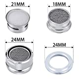 6PCS Faucet Aerators, Male Threaded Brass Aerator With Faucet Replacement Part for Bathroom Kitchen
