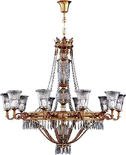 David Michael Chandelier Lighting 10-Light Bronze Casting Czech Cut -