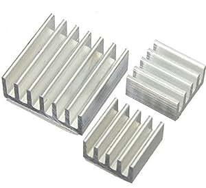Aihasd 3 PC Refrigeración Aluminio Disipadores de Calor para Raspberry Pi