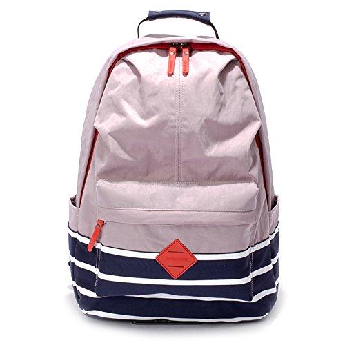 Hiigoo Nylon Casual Backpacks Waterproof Oxford Shoulders Bags Satchels (Pink)