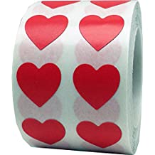 Red Heart Stickers Valentine's Day Crafting Scrapbooking 1/2 Inch 1,000 Adhesive Stickers