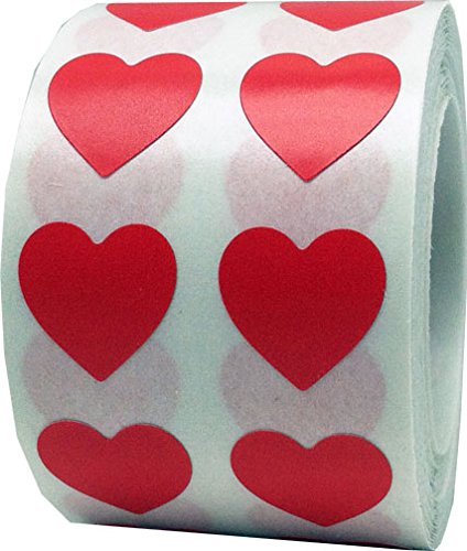 (Red Heart Stickers Valentine's Day Crafting Scrapbooking 1/2 Inch 1,000 Adhesive Stickers)