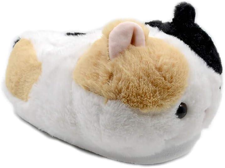 Millffy Women's Winter Cute cat Plush Animal Slippers Warm Kitten Slipper