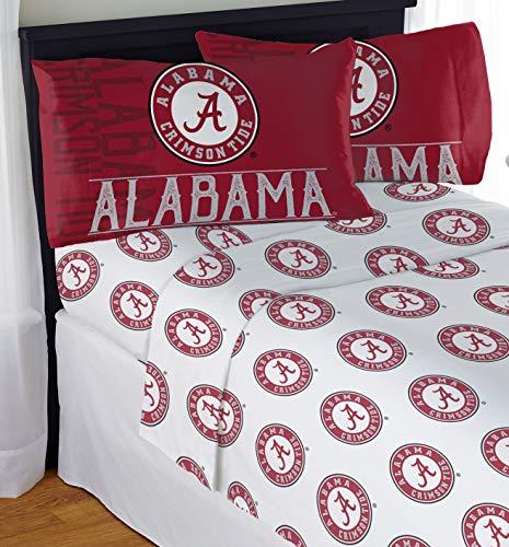"Northwest NCAA Alabama Crimson Tide ""Affiliation"" Queen Sheet Set #873174103"