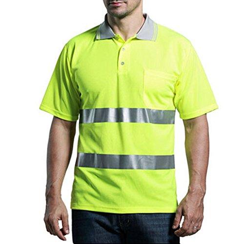High Visibility T-shirt Hi Viz Reflective Safety Vest Workwear (M) (Spirit Halloween Sf)