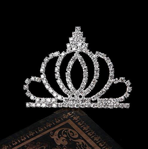 Dairyshop Ciondolo nuziale del brillante del Rhinestone di cerimonia nuziale della fasciatura della fascia dei capelli del Tiara del pettine