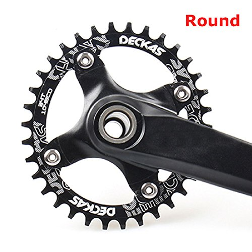 FOMTOR Single Chainring 32T 34T 36T 104 BCD Bike Narrow Wide Chainrings for 9 10 11 Speed Perfect for Most Bicycle Road Bike Mountain Bike BMX MTB Fixie Track Fixed-Gear Bicycle Round, Black
