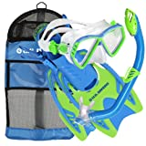 U.S. Divers Junior Regal Mask, Trigger Fins and Laguna Snorkel Combo Set, Fun Blue, Small/Medium