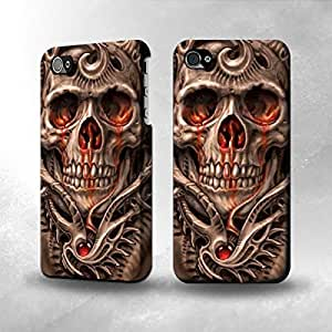 Apple iPhone 4 / 4S Case - The Best 3D Full Wrap iPhone Case - Skull Blood Tattoo